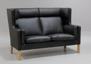 Børge Mogensen sofa i sort Italiensk Marchetto læder
